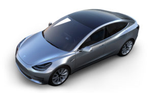 Image of Tesla Model 3 in steel grey